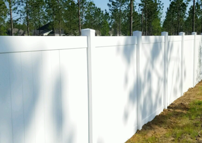 White Vinyl Privacy Fencing | Fence Installation | Privacy Pros Fence Company Statesboro, GA
